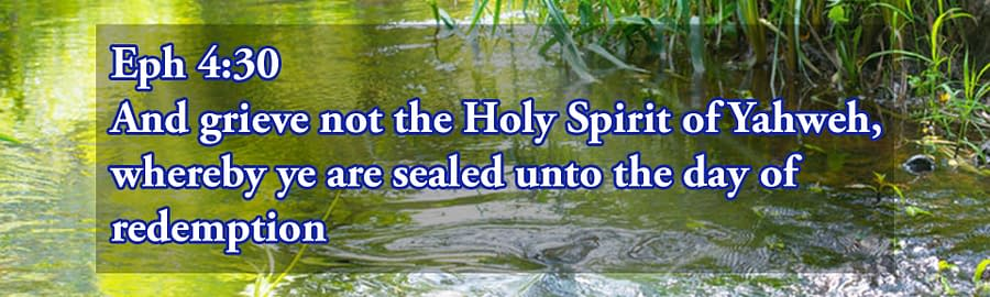 Sealed With The Holy Spirit unto redemption